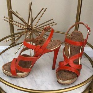 Breezin heels by Nine West in Orange